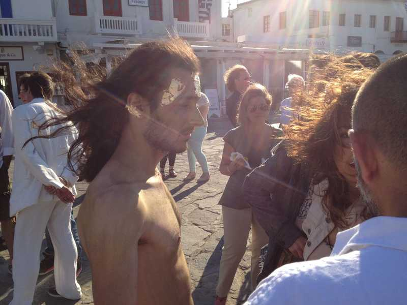 Mykonos Biennale -  - Perfomance Art at Old Harbour